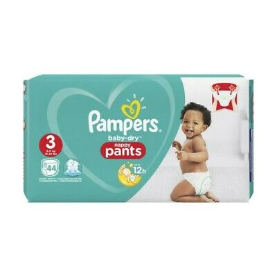 Pampers Baby-Dry Pants Taille 3, 6-11 kg, 44 Couches-Culottes