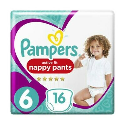 Pampers Premium Active Fit Pants Taille 6 15+ kg - 16 Couches-Culottes