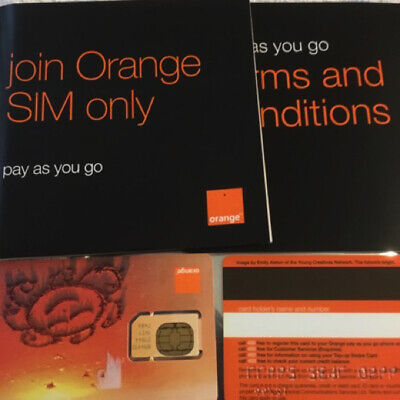 2G Orange Pay As You Go Sim, Old Type, Brand New, Sealed