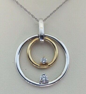 "14 K White Gold Diamond Necklace .25 Carats 18"" 3.2g Jared Jewelers $800"
