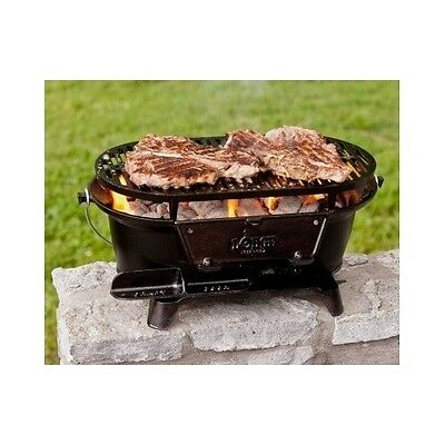 Lodge Cast Iron Grill Sportsmans Camping Outdoor Patio Hibachi Tailgating Party