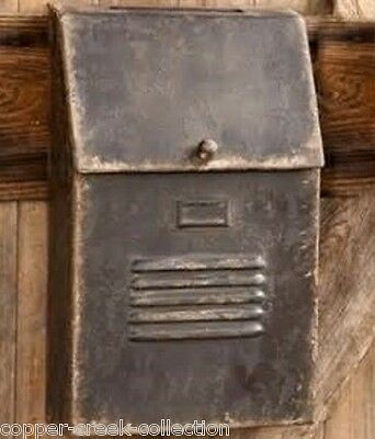 Brown Metal POSTAL House MAILBOX*French Country Farmhouse/Primitive Wall Decor