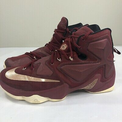 best sneakers 7f085 d95ed NIKE LEBRON 13 XIII CAVS Championship Maroon Red Bronze Gold Men's 11 James