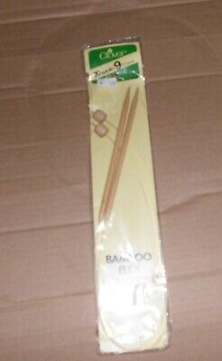 Clover Bamboo Flex Knitting Needles Single Point Flexible Nylon Cord VariedSizes