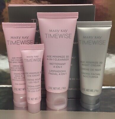 Mary Kay Timewise Miracle Set 3D The Go Set~ NIB ~ Combination/Oily ~ Ships FREE