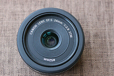 Canon EF-S 24mm f/2.8 STM Pancake Wide-Angle Prime Lens Boxed