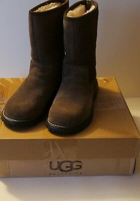 11c719a2c84 UGG LANGLEY TALL Chocolate Leather Sheepskin Women Boots US 7 ...