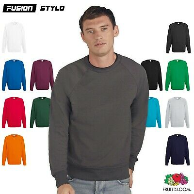 Fruit Of The Loom Mens Sweat Lightweight Raglan Sweatshirt SS970 Casual Jumper