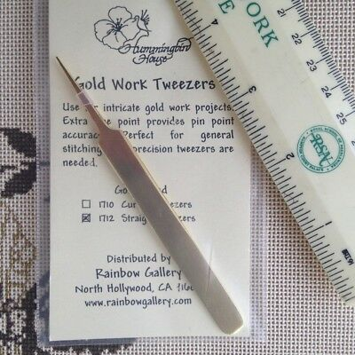Hummingbird House Straight Gold Work Needlework Tweezers