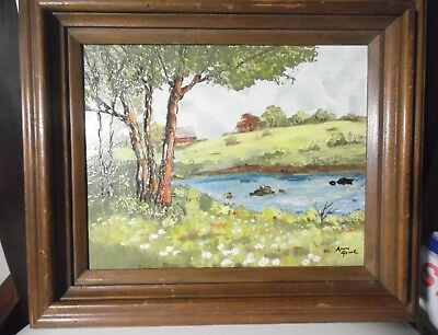 """Original Landscape Oil Painting  by Listed Artist Ann Pine 8"""" x 10"""" Frmd/ Signed"""