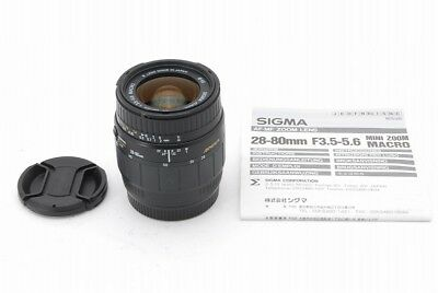 【Mint】Sigma Zoom 28-80mm f/3.5-5.6 Macro AF Lens for Canon EF from Japan #086-69