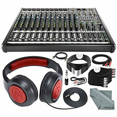 Mackie PROFX16V2 16-Channel Compact Mixer with Built-In Effects and Deluxe Acces