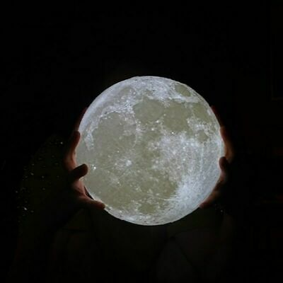 3D LED Night Moon Light Luz nocturna Sensor táctil control remoto 16 Color USB