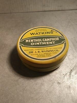 Vintage Watkins Menthol Camphor Ointment In Tin Container