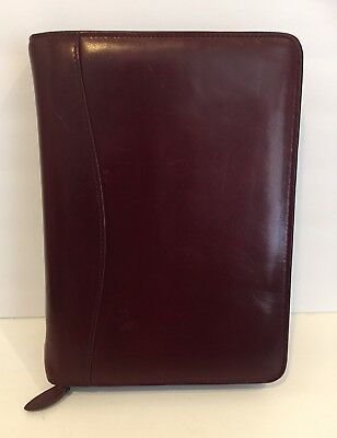 VTG Scully Organizer Agenda Zip Planner Quality Aged Leather Unused Inserts