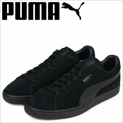 Puma Classic Suede LFS 35632801 All Black Mens Womens Casual Shoesa All Sizes