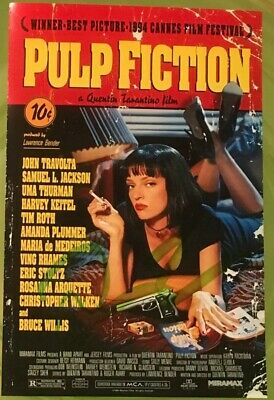 """Quentin Tarantino Hand Signed Photo AUTOGRAPH - Pulp Fiction Poster Photo 6x4"""""""