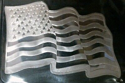 American Flag wavy art bar 1 troy oz .999 silver UNIQUE