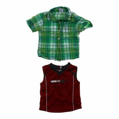 Baby Boys Cute Tank Top & Shirt, size 12 mo,  red, green,  polyester, cotton