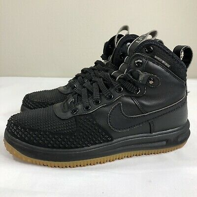 NIKE LUNAR AIR Force 1 DUCKBOOT BLACK GUM BOTTOM 805899 003