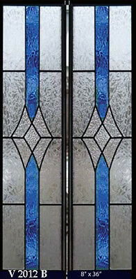 1 Pair  Stained glass Windows