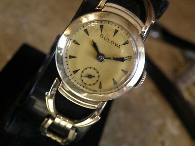 """1930`S BULOVA  The """"Commodore """"/ SERVICED with ORIGINAL  BAND & NEW CRYSTAL"""