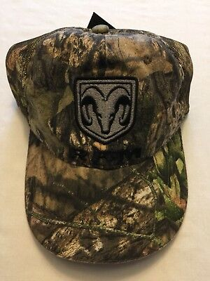 7007982d77486 NWT Dodge Ram Mossy Oak Camouflage Hat Front Logo Adjustable Mesh Back  Trucker