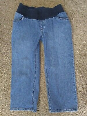 MOTHERHOOD MATERNITY SIZE MEDIUM JEANS JEAN CAPRI CROPPED STRETCH PANTS Womens