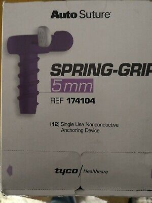 Auto suture spring grip  5 mm  tyco Ref 174104EXP FINISH