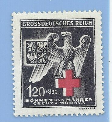 Germany Nazi Third Reich B&M Nazi Eagle 120+880 Stamp  WW2 ERA