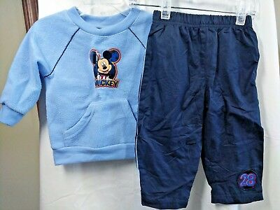 The Wonderful World Of Disney Baby Boy 12 months 2-pc Outfit Long Sleeve Mickey