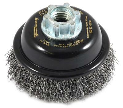 """Forney Industrial Pro 72856 3"""" Premium Crimped Wire Cup Brush Upc:032277728561"""