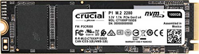 Crucial P1 - Solid State Drive - 1 Tb - Internal - M.2 2280 - Pci E... NEW