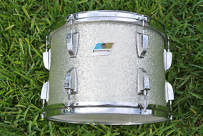 """1970's LUDWIG CLASSIC 13"""" SILVER SPARKLE TOM for YOUR DRUM SET! LOT #D329"""