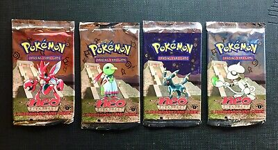 Pokemon Booster Packs Eng Neo Discovery 1st Edition - 4 packs Empty VUOTI