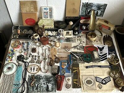 Mixed Job Lot of Vintage Items Antiques & Collectables - Silver, Medals, Coins..