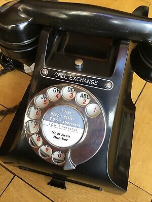 Vintage Bakelite 312L Art Deco Gpo Directory Drawer Dial Telephone  100% Working