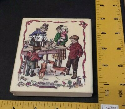PSX Tasha Tudor Corgi Cottage Rubber Stamp K7211 Children Christmas Gingerbread