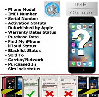 APPLE OFFICIAL IPHONE IMEI Network Carrier Check & SIM Lock