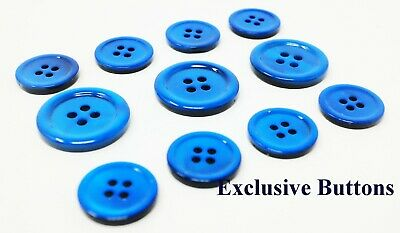 Ocean Blue Mother Of Pearl Buttons Set (MOP) For Suit, Blazer, or Sportcoat