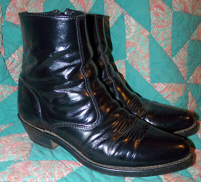 1a39449e0ac LAREDO MENS SIZE 9 1/2 9.5 Ew Wide Black Western Dress Boots Zip Leather