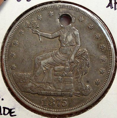 1875-S Trade Dollar, Sharp Coin, Nice for Type, Discounted  1214-21