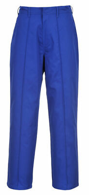 "Mens Portwest S085 York Trousers Royal Workwear Trousers Size 33"" - 31"""