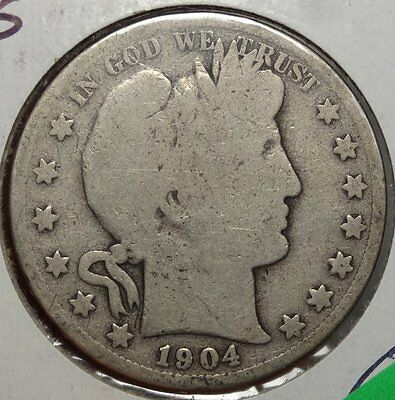 1904-S Barber Half Dollar, Good, Scarce Better Date  0913-11
