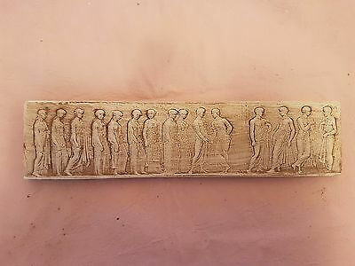 Miniature Fine Art Antique Italian Roman plaster Pictorial Sculpture Plaque NEW