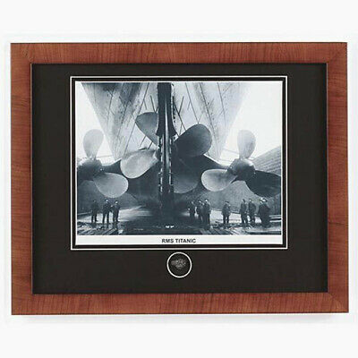 RMS Titanic Ship Propellers Framed Print Included Recovered Coal Fragment Coal