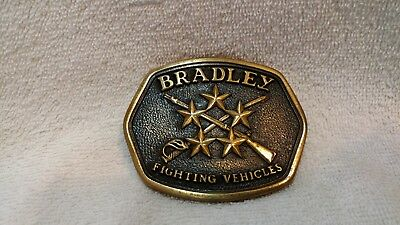Bradley Fighting Vehicles  BTS Solid Brass  Made in USA Excellent 1978