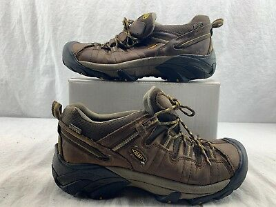 Keen Men's Cascade Brown Boots Shoes 1008417 Waterproof Nubuck Leather Size 10.5