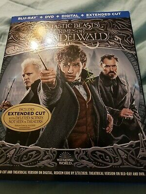 Fantastic Beasts: Crimes of Grindelwald (Blu-ray/DVD/Extended Cut 2019NO Digital