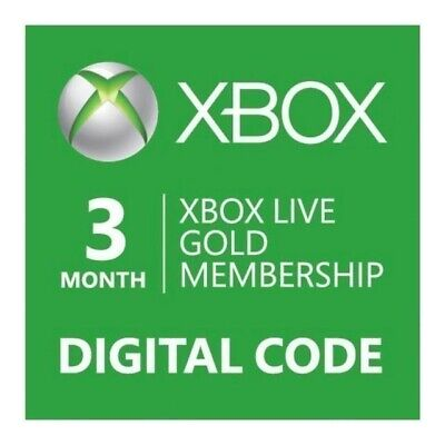 Microsoft Xbox Live Subscription 3 Month Gold Membership GLOBAL FAST DELIVERY